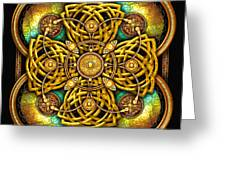 Gold Celtic Cross Greeting Card