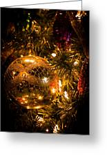 Gold Christmas Ornament Greeting Card