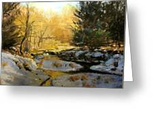 Gold Creek Glow Greeting Card