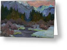 Gold Creek Snoqualmie Pass Greeting Card