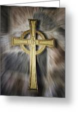 Gold Cross Greeting Card