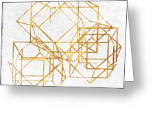 Gold Cubed II Greeting Card