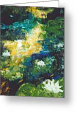 Gold Fish Pond Greeting Card