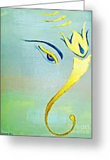 Gold Ganesh Greeting Card