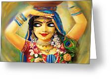 Gold Gauri Greeting Card