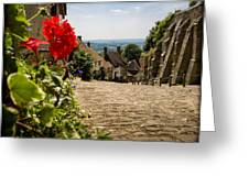 Gold Hill Shaftesbury Greeting Card