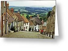 Gold Hill Shaftesbury Uk 1980s Greeting Card