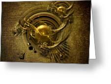 Gold Birds Greeting Card