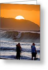 Gold Kaena Sunset Greeting Card
