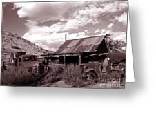 Gold King Mine Near Jerome Greeting Card by Alex Cassels