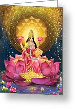Gold Lakshmi Greeting Card