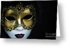 Gold Mask Greeting Card