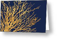 Gold Medley On Navy Greeting Card