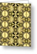 Gold Metallic 16 Greeting Card