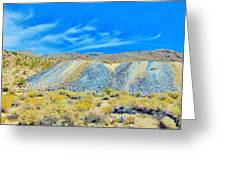 Gold Mine Tailings Greeting Card