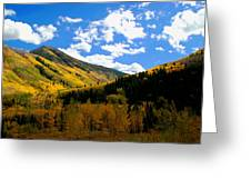 Gold Mountains Greeting Card