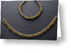 Gold Necklace Greeting Card by Andonis Katanos