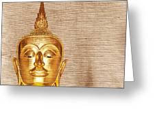 Gold Painted Buddha Statue Greeting Card