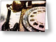 Gold Rotary Phone Greeting Card