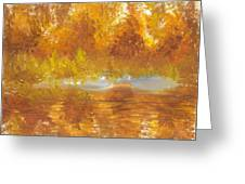 Gold Serenity  Greeting Card