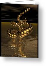 Gold Serpentine  Greeting Card