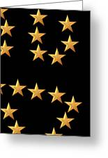 Gold Stars Abstract Triptych Part 3 Greeting Card by Rose Santuci-Sofranko