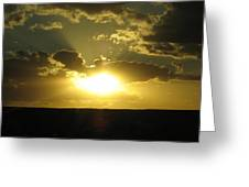 Gold Sunset Greeting Card