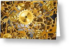 Gold Time.  Greeting Card