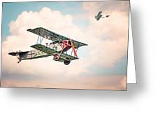 Golden Age Of Aviation - Replica Fokker D Vll - World War I Greeting Card
