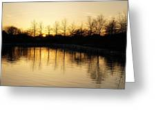Golden And Peaceful - A Sunset On Lake Ontario In Toronto Canada Greeting Card