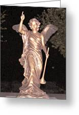 Golden Angel In The Night Greeting Card