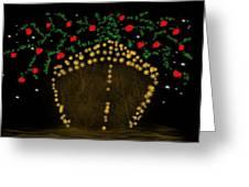Golden Apple Ship Greeting Card