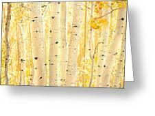 Golden Aspens Utah Greeting Card