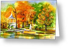 Golden Autumn Day 2 Greeting Card