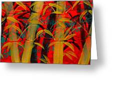 Golden Bamboo Greeting Card