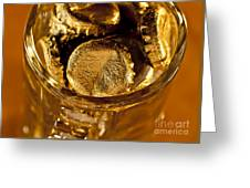 Golden Beer  Mug  Greeting Card