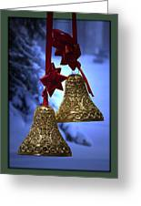 Golden Bells Green Greeting Card Greeting Card