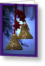 Golden Bells Purple Greeting Card Greeting Card