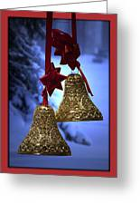 Golden Bells Red Greeting Card Greeting Card