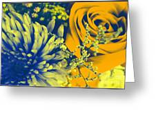 Golden Blossoms Pop Art Greeting Card