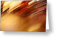 Golden Blur Greeting Card