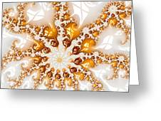 Golden Brown And White Luxe Abstract Art Greeting Card