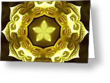 Golden Buddha Star Greeting Card