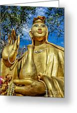 Golden Buddha Statue Greeting Card