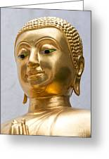 Golden Buddha Statue Greeting Card by Antony McAulay