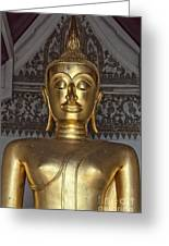 Golden Buddha Temple Statue Greeting Card