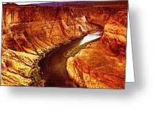 Golden Canyon Greeting Card