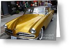 Golden Car Greeting Card