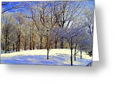 Golden Central Park Greeting Card