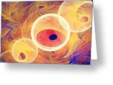 Golden Circles Abstract Greeting Card